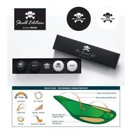 Volvik VIVID 'Skull' Pack (4 balls+Marker)
