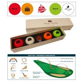 Volvik VIVID 'Birthday' Pack (4 balls+Marker)