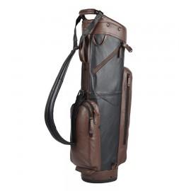 Leather Cart Bag - Black / Brown