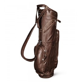 Leather Cart Bag - Black / Tan