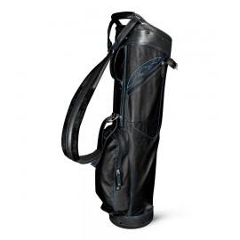 Leather Sunday Bag - Black / Cobalt
