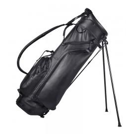 Leather Stand Bag - Black / Cobalt