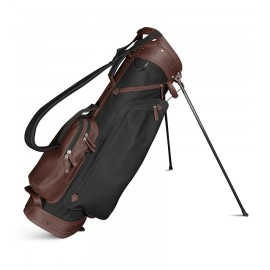 Leather Stand Bag - Black / Brown